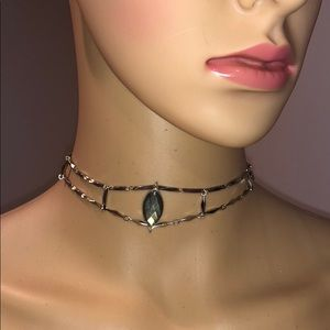 Nakamol Silver choker turquoise mother of pearl
